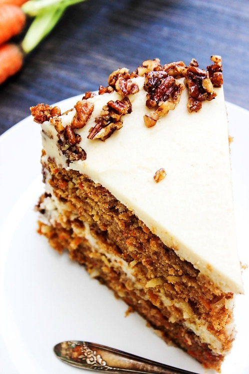 Ava's Candied Pecan Carrot Cake