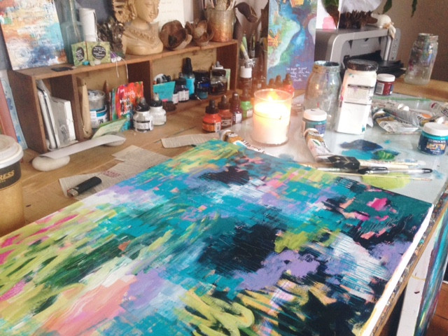 A yearly affirmation & a little glimpse into my studio...
