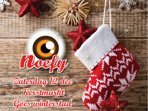 12 Dec. Noefy op de Kerstmarkt         Goes winterstad