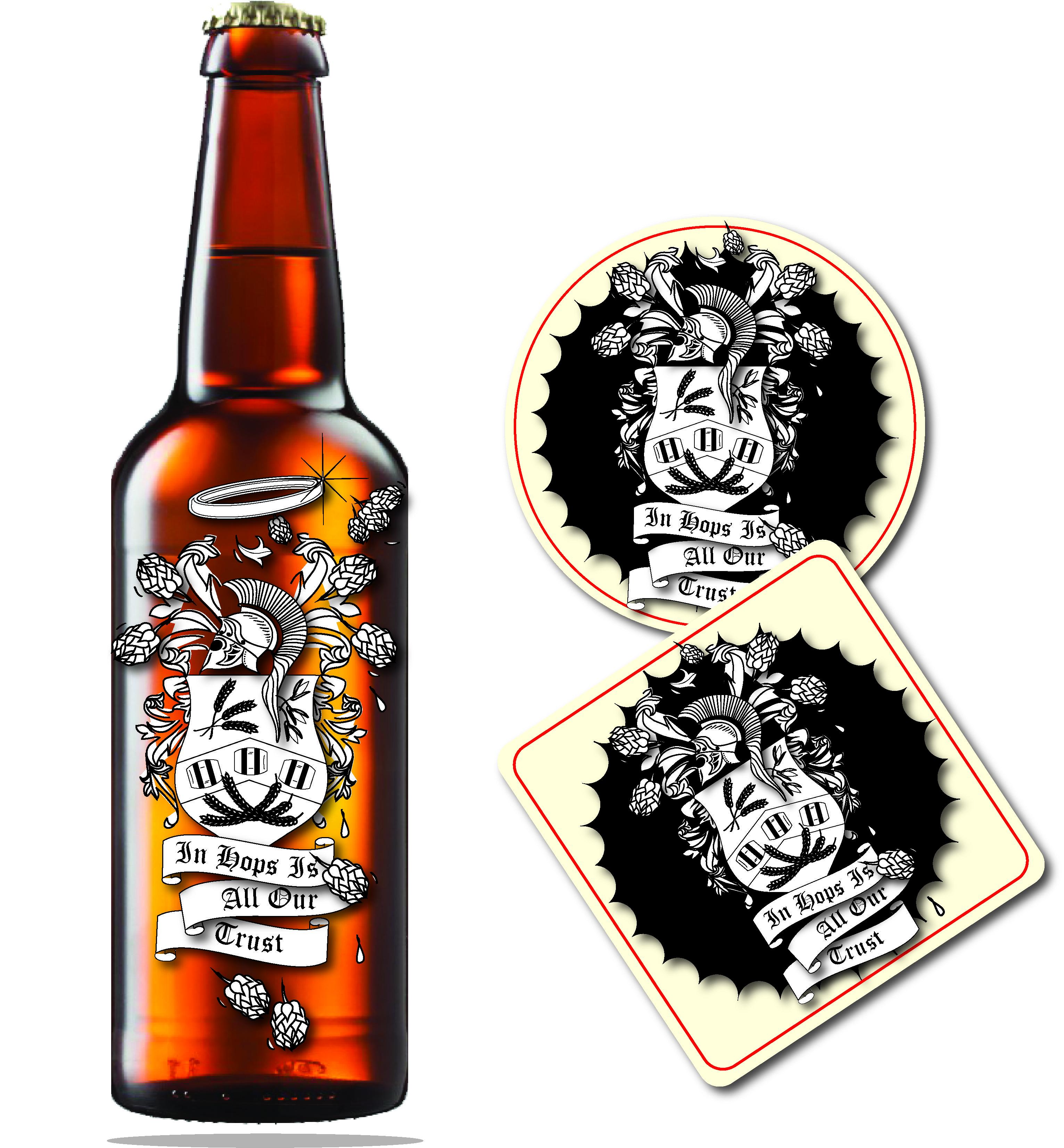 Black hops logo beer