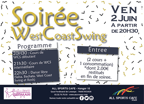 soirée west coast swing rouen