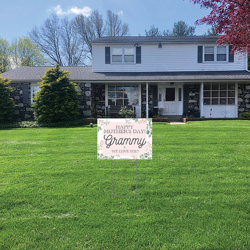 Mother's Day Lawn Signs: 24 in w x 18 in h (Personalized)