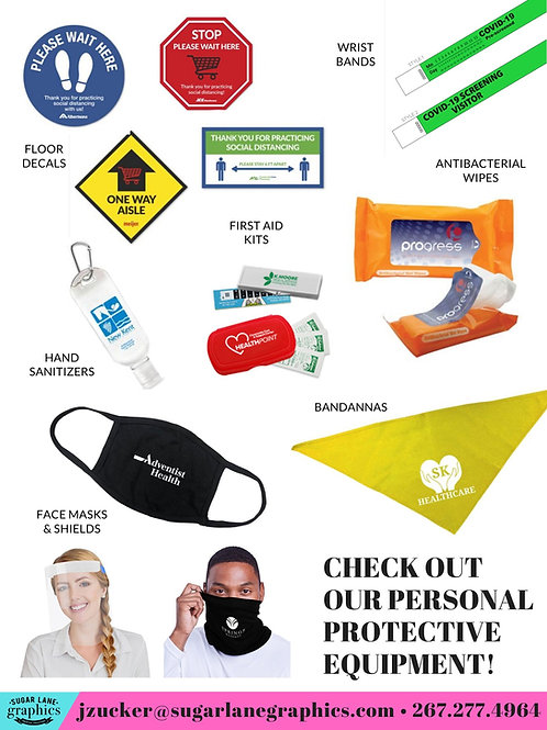 Personal Protective Equipment (PPE) Items (starting at)