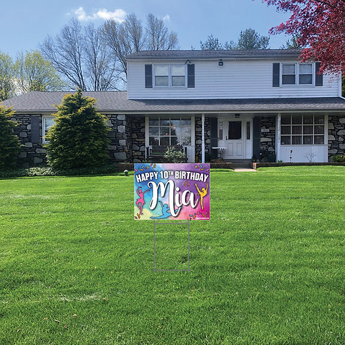 Hobby Birthday Lawn Signs: 24 in w x 18 in h (Personalized)