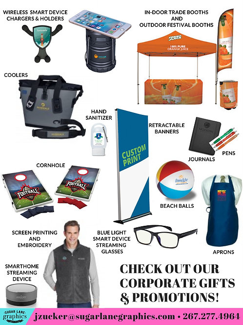 Custom Promotional Items (starting at)