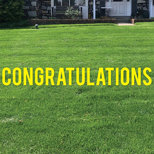 Congratulations Cut-out Letter Lawn Signs (For Rent)