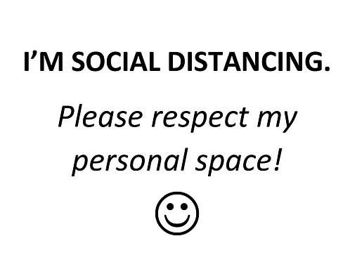 Print-at-Home Sign: Social Distancing