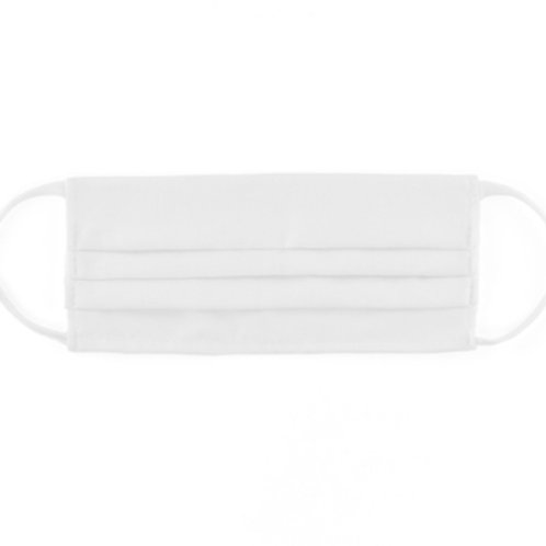 White Cloth Face Mask (Quantity of 5)