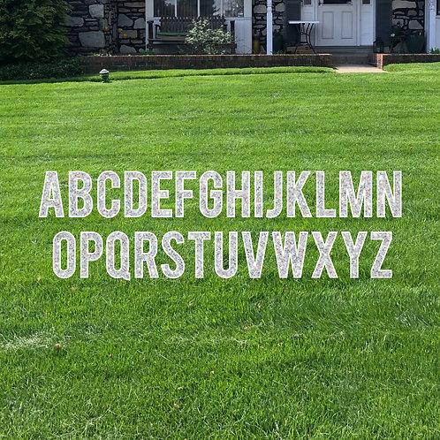 Celebration Alphabet Cut-out Letter Lawn Sign (For Rent)