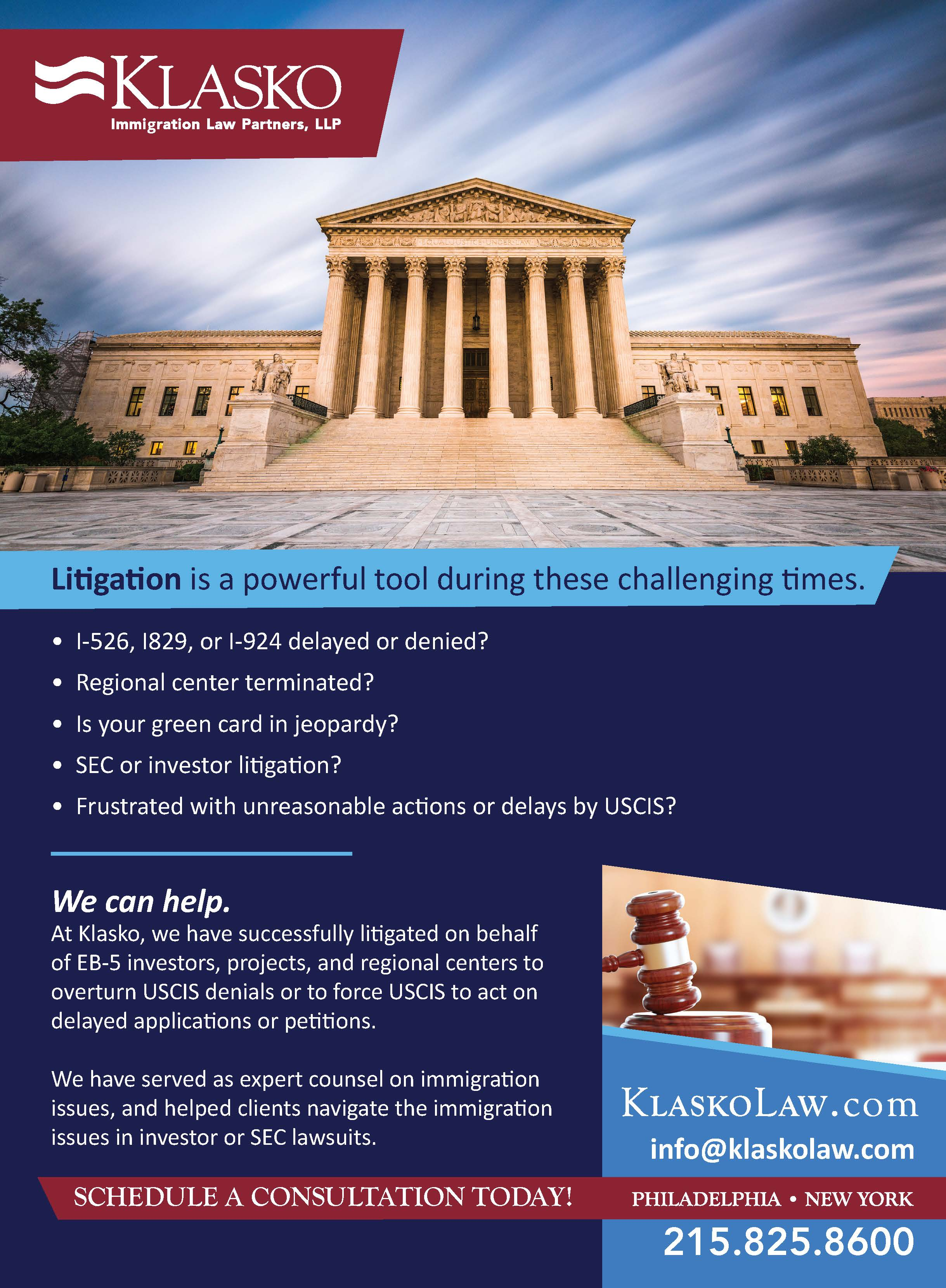 Law Firm Magazine Advertisement