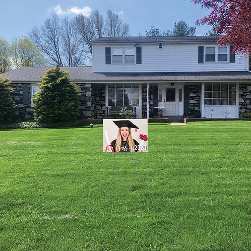 Graduation Lawn Signs with Photo: 24 in w x 18 in h (Personalized)
