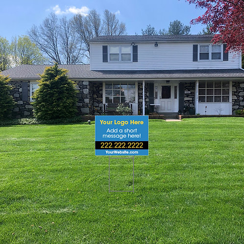 Branded Company Lawn Signs: 24 in w x 18 in h (Personalized)