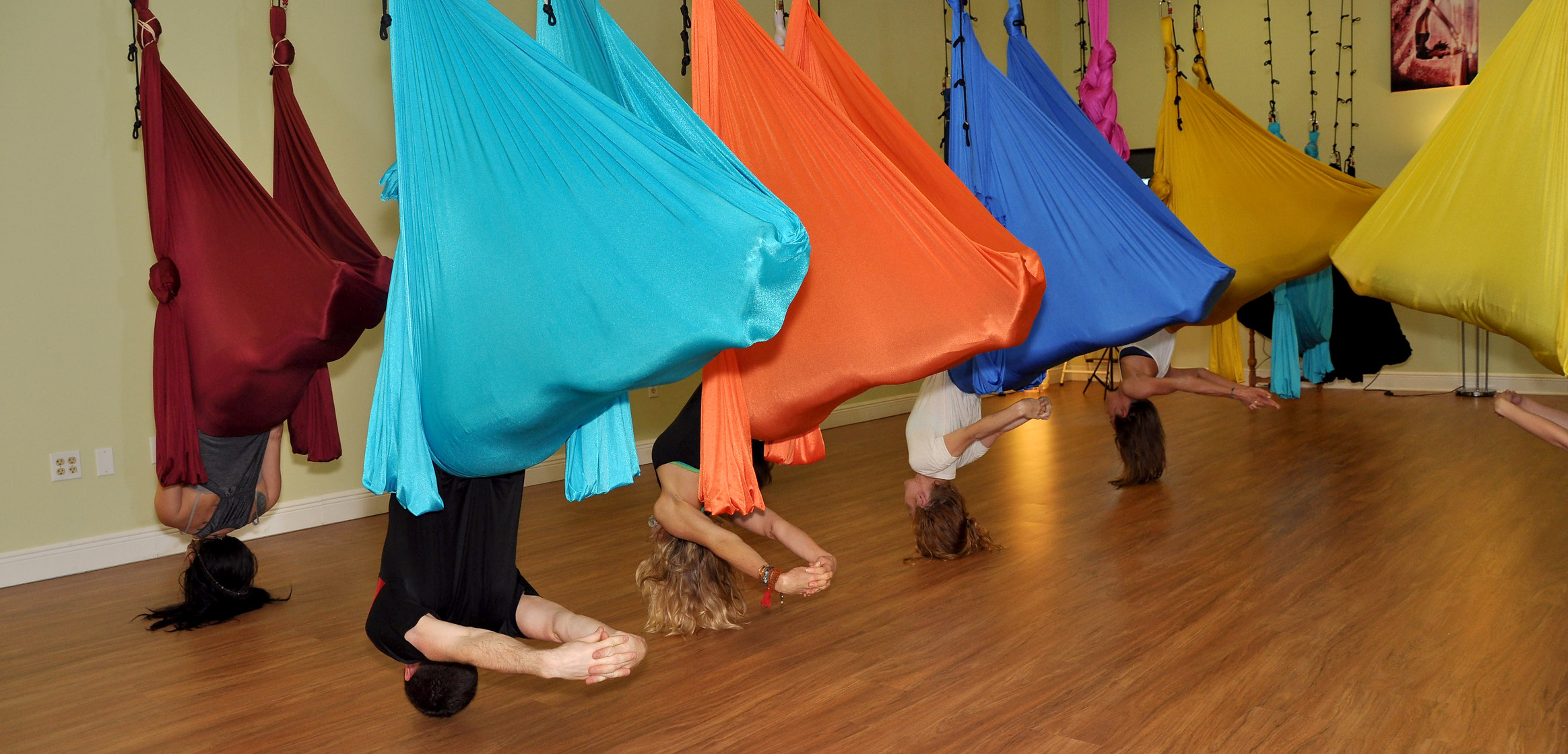 Aerial Yoga - Big Shrimp Pose