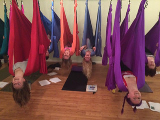 Memories of Aerial Yoga Trainings