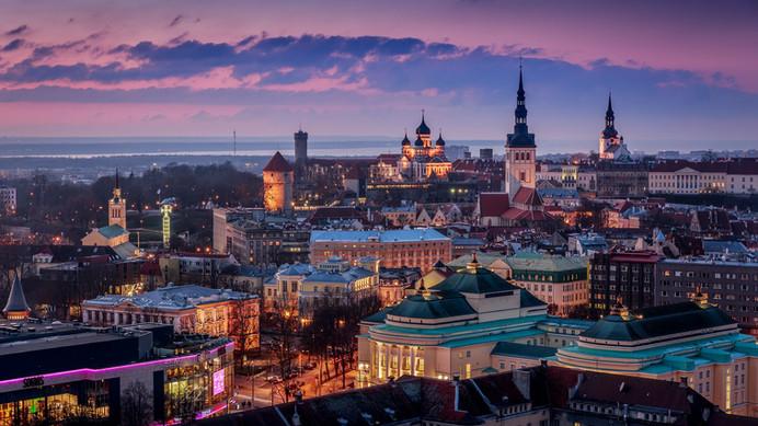 An evening in Tallinn