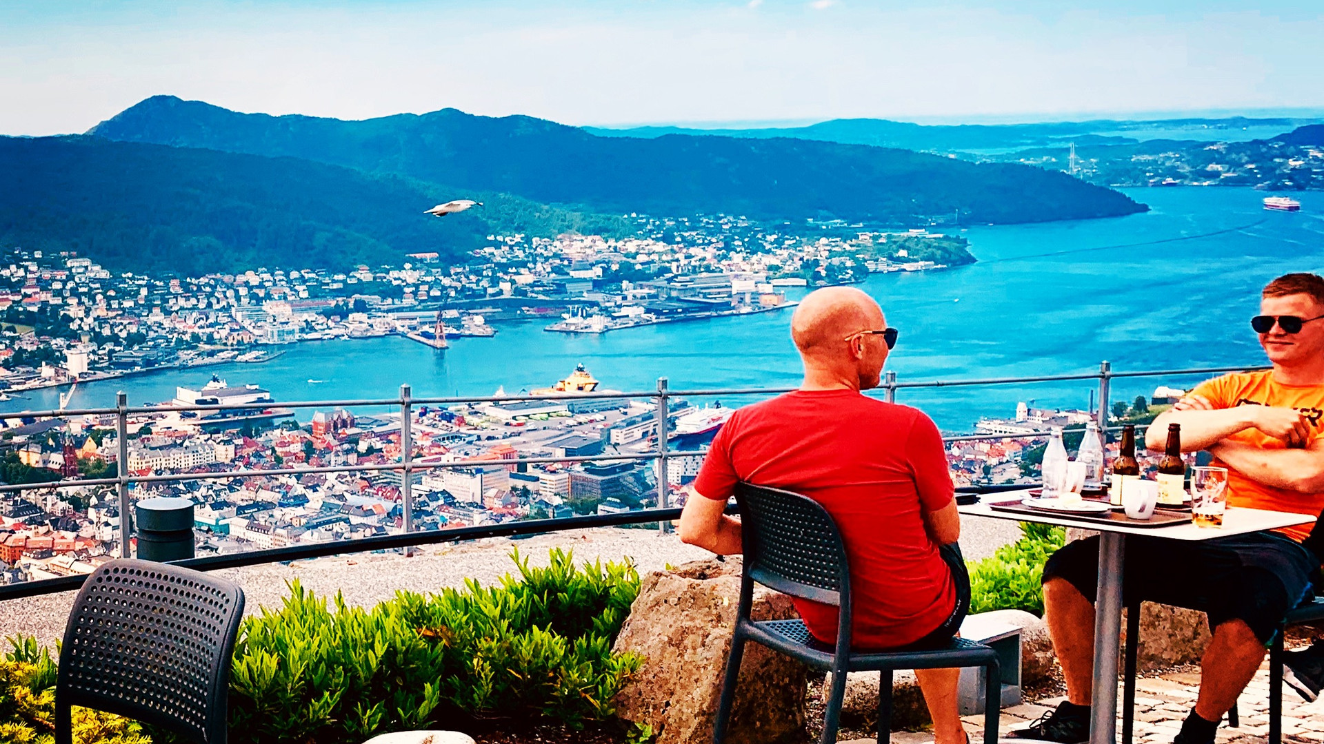 A panoramic view of Bergen