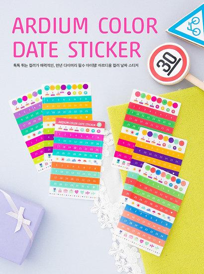Color Date Sticker