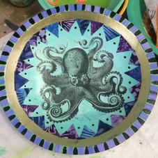 Octopus Print Bowl