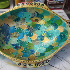 Commissioned Fish Shaped Wooden Bowl