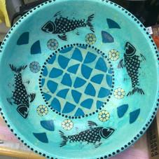 Medium Fish Wooden Bowl