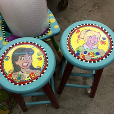 Commissioned Tall Stools