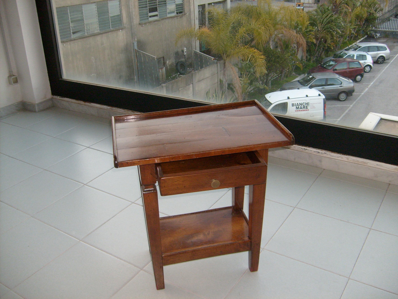 Tavolino Porta Tv.Cs1 Tavolino Porta Tvcon Cassetto In Legno Stile Arte Povera