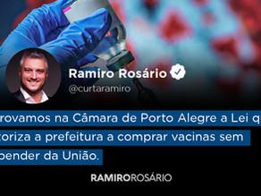 Câmara aprova emenda do vereador Ramiro proibindo contratação de publicidade sem licitação