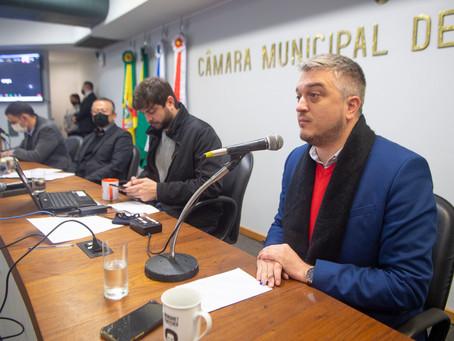 """Ramiro apresenta projeto """"Moinhos Seguro"""" em reunião da Comissão de Constituição e Justiça"""