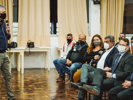 Evolução das obras do Arroio Areia é tema de reunião promovida por Ramiro