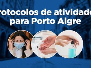 Porto Alegre adota protocolos próprios de atividades no combate ao Coronavírus.