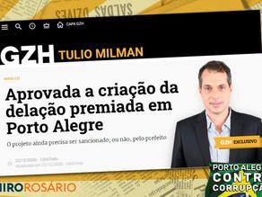 Aprovada a criação da delação premiada em Porto Alegre