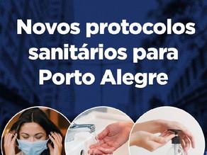 Novos protocolos sanitários para Porto Alegre