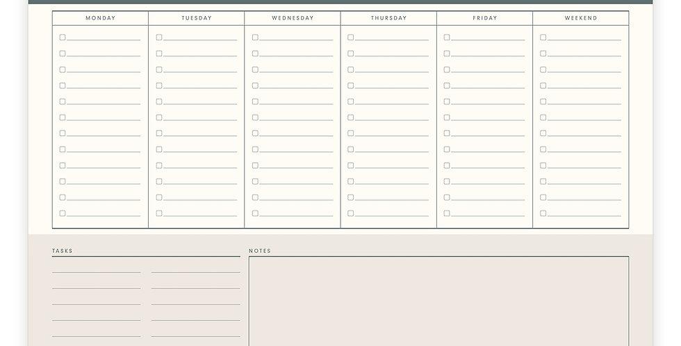 Weekly List Desk Pad