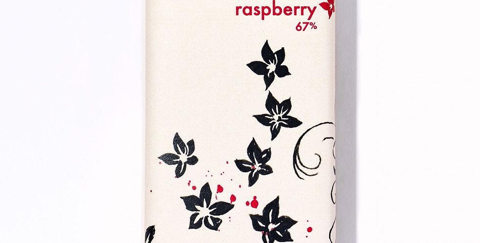 1oz Raspberry Chocolate Bar (67% cacao)