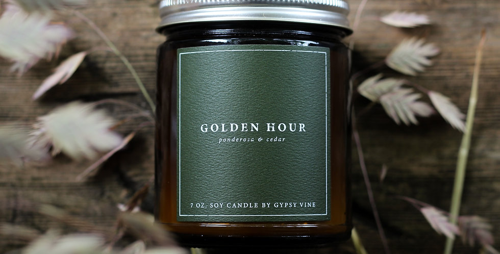 Golden Hour Soy Candle
