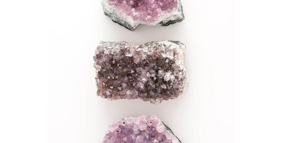 Amethyst Druzy Crystal Clusters