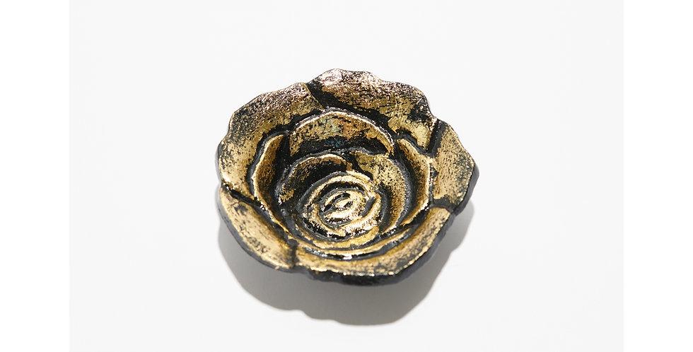 Golden Rose Cone Incense Burner, Smudge Bowl or Decor
