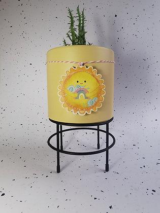 Sunshine plant pot decoration
