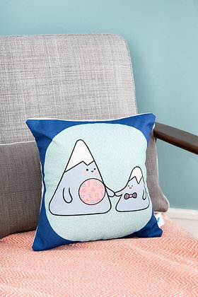 Nordic mountain pillow for kids room