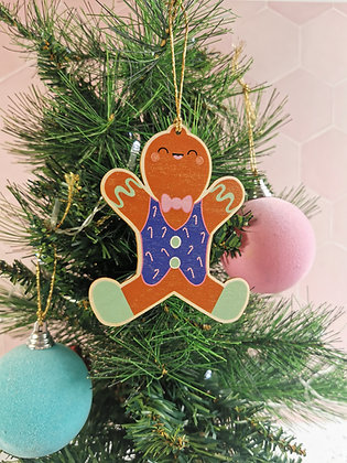 Gingerbread wooden Christmas decoration