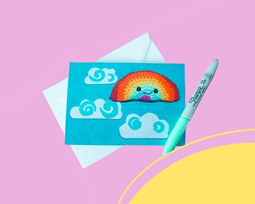 Blank rainbow greetings card