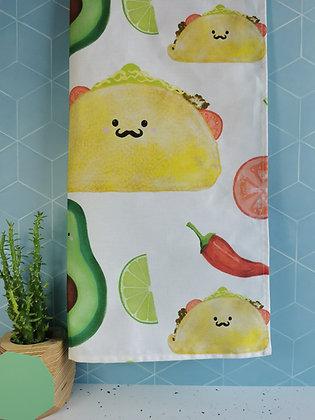 Mexican Taco Tea Dish Towel