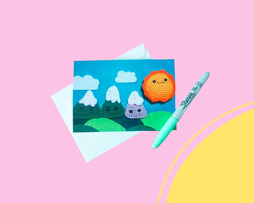 Mountain blank greeting card