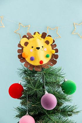 Felt lion Christmas tree topper
