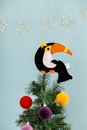 Felt toucan tree topper