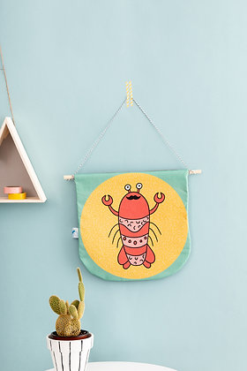 SECONDS Lobster fabric banner