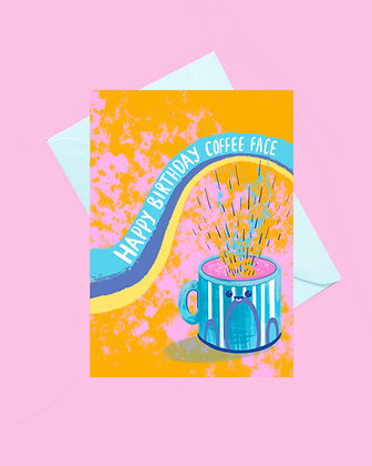 Coffee lover happy birthday card