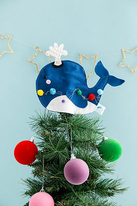 Whale Christmas tree topper