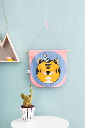 SECONDS Pink tiger flag for safari bedroom