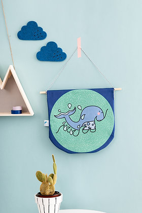 Fabric whale banner